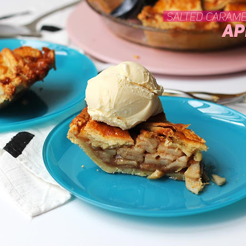 Salted Caramel Bourbon Apple Pie