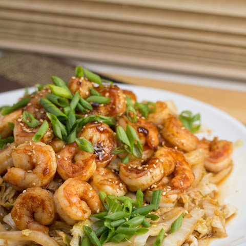Spicy Shrimp + Napa Cabbage Stir-Fry