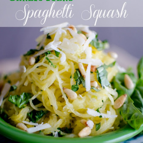Spaghetti Squash with Garlic and Herb