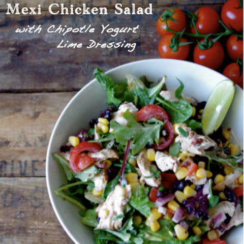 Mexi Chicken Salad with Chipotle Yogurt Lime Dressing