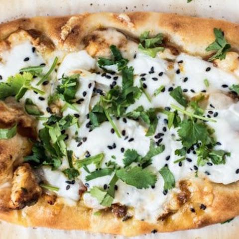 Vegetarian Eggplant Naan Pizza with Cilantro Jalapeno Pesto Recipe ...