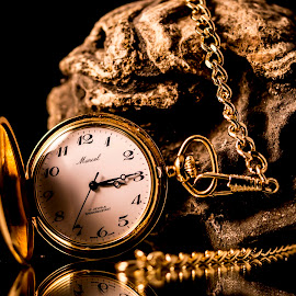 Pocket Watch and Rock II by Greg Bennett - Artistic Objects Still Life