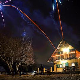 Kuća Matičin by Dalibor Jud - Abstract Fire & Fireworks ( kuća, crikvenica, new year, 2016, croatia, matičin, hrvatska, lukovo )