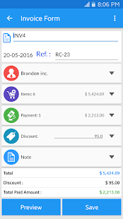 app simple invoice manager apk for windows phone | android games, Invoice examples