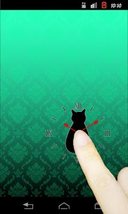 Cat silhouette Clock2R - screenshot