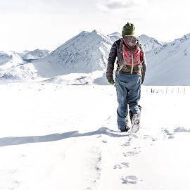 Walking into the mountains by Jake Myhre - Sports & Fitness Snow Sports ( hike )