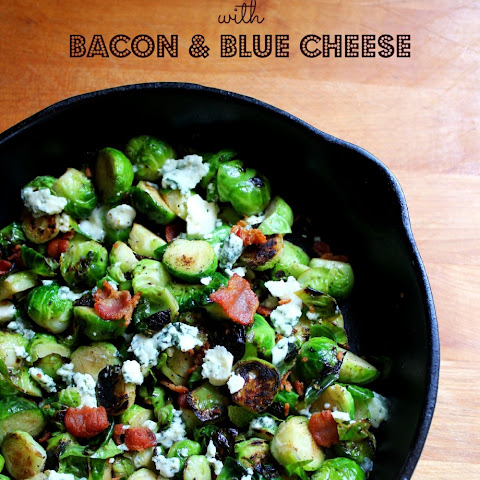 Blackened Brussel Sprouts with Bacon & Blue Cheese