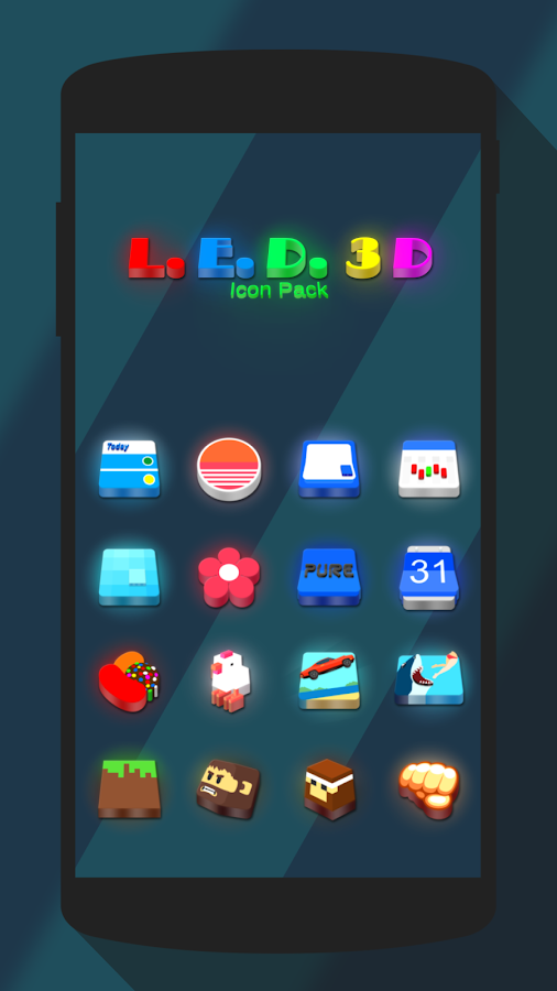LED 3D Icon Pack Screenshot 3