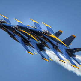 Stacked Tight by Rob Baker - Transportation Airplanes ( military aircraft, corpus, jet, airshow, blue angels )