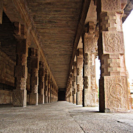 long pathway by Venkat Krish - Buildings & Architecture Other Interior ( #long, #corridor, #architecture, #stone, #interior, #pillars, #temple, #path )