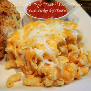 Slow Cooked Triple Cheddar Mac & Cheese