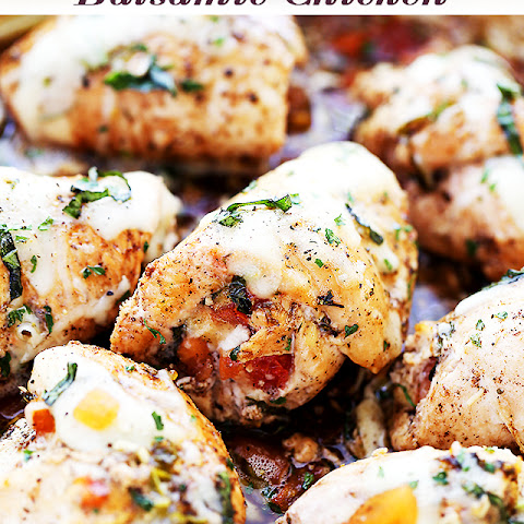 Bruschetta Stuffed Balsamic Chicken