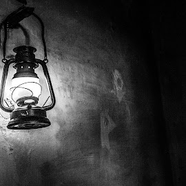The Lantern by Ebtesam Elias - Black & White Objects & Still Life