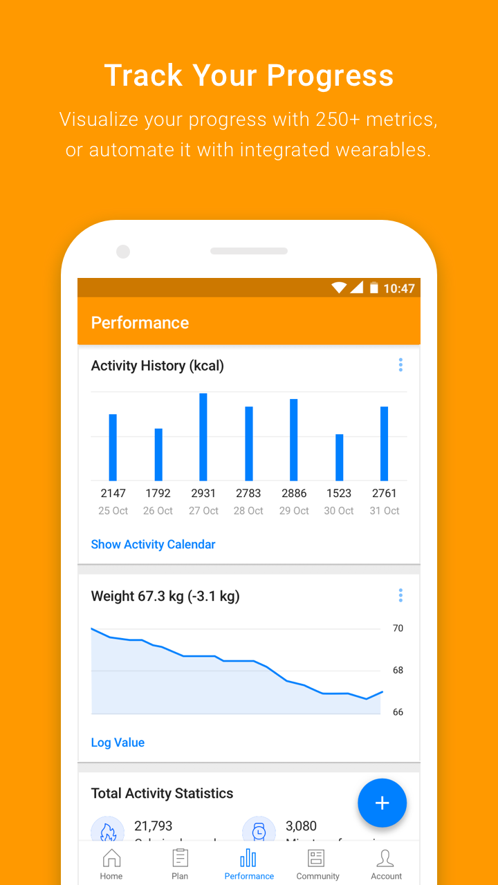 Virtuagym Fitness Tracker - Home & Gym Screenshot 2