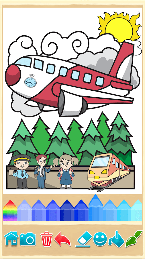 Игра раскраска самолетов
