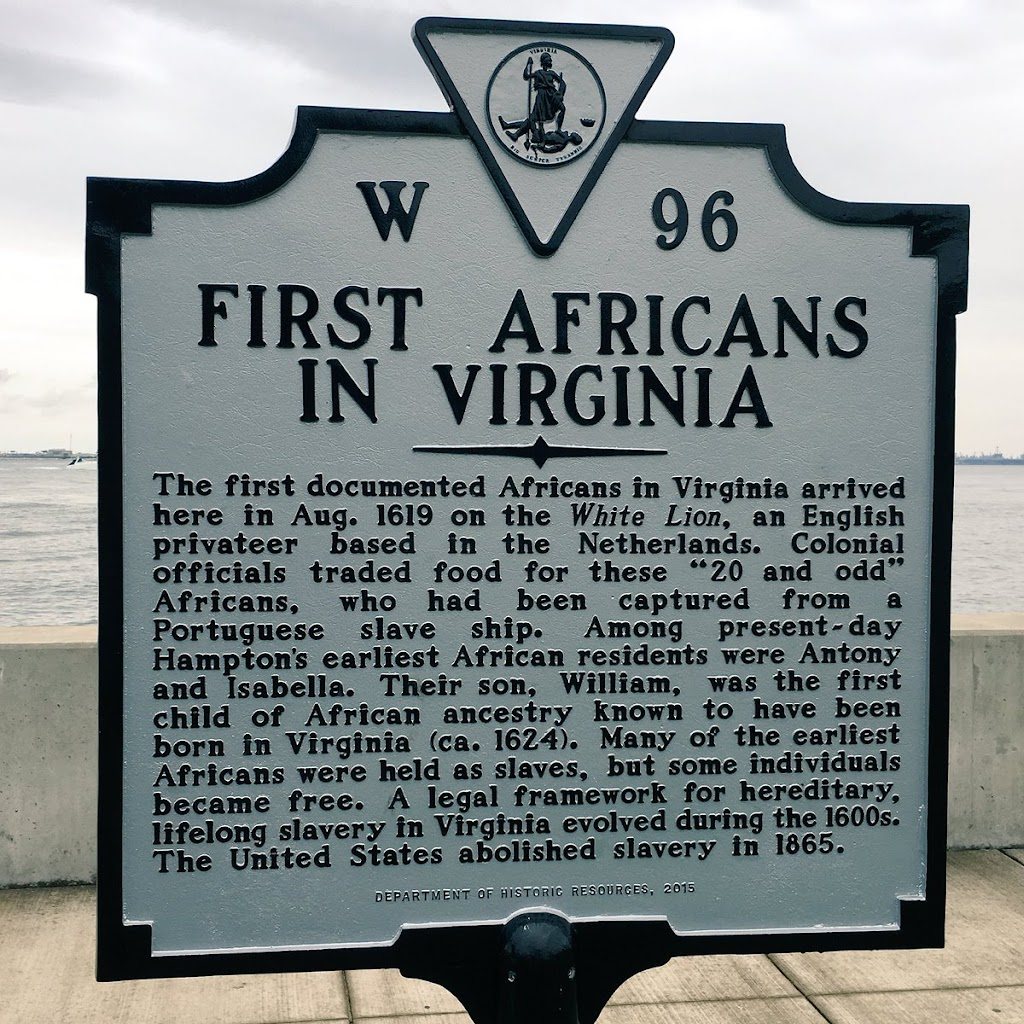 Image result for The first documented Africans in Virginia arrived here in Aug. 1619 on the White Lion, an English privateer based in the Netherlands.