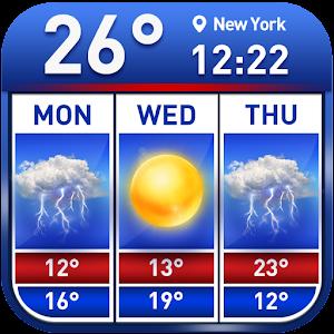 Weather report & temperature widget For PC / Windows 7/8/10 / Mac – Free Download