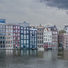 Neighborhoods by Jesus Giraldo - City,  Street & Park  Neighborhoods ( water, reflection, colors, buildings, amsterdam, homes, city )