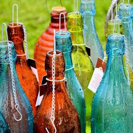 Wet bottles by Heather Aplin - Artistic Objects Glass
