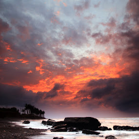 burn sky by Linggar Saputra I Wayan - Landscapes Waterscapes