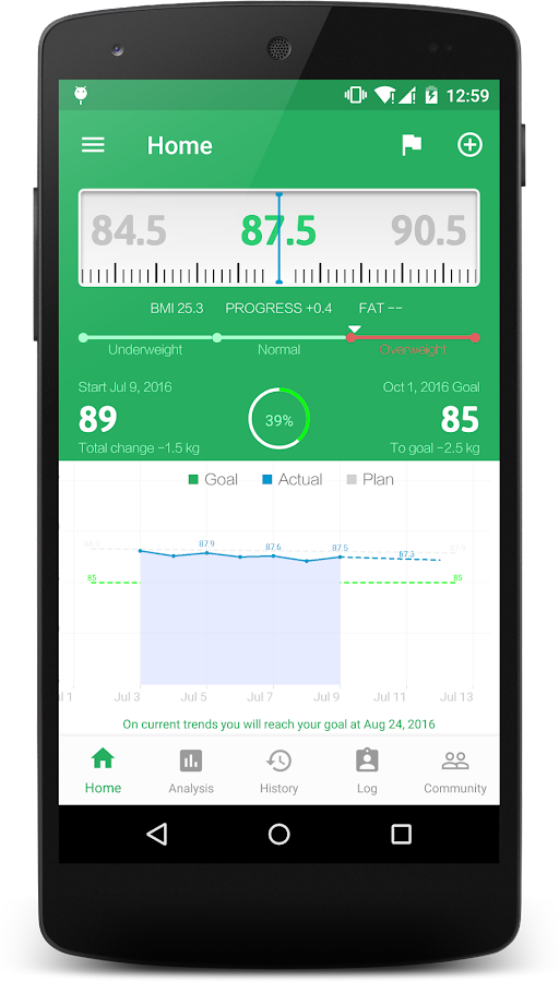Weight Track Assistant - BMI Screenshot 0