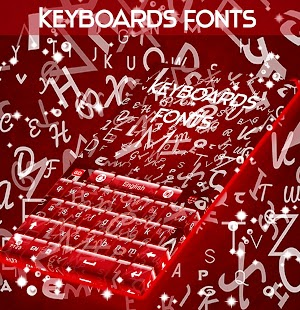 Keyboards and Fonts - screenshot