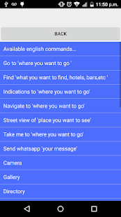 Voice search navigation maps - screenshot