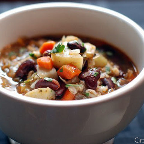 Bean and Barley Veggie Soup