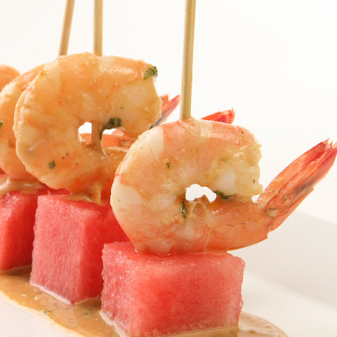 Watermelon and Shrimp Appetizer