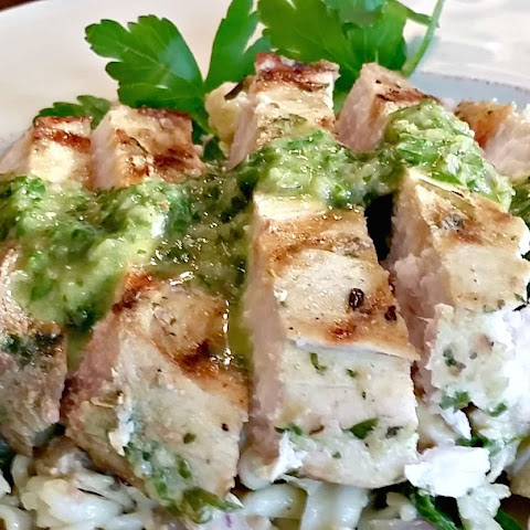 Grilled Swordfish with Chimichurri sauce