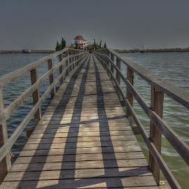 Porto Lagos by Stratos Lales - Instagram & Mobile Android ( monastery, lake, bridge, lagos, porto )
