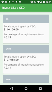 Invest Like a CEO - screenshot