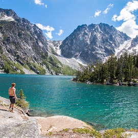 Colchuck lake by Casey Bebernes - Landscapes Mountains & Hills