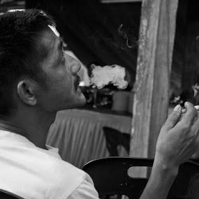 Smoker . by Maji Shuki - People Portraits of Men
