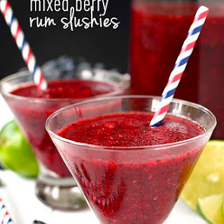 Mixed Berry Rum Slushies