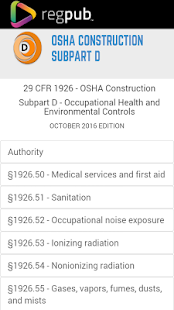 29 CFR 1926 - Subpart D - screenshot