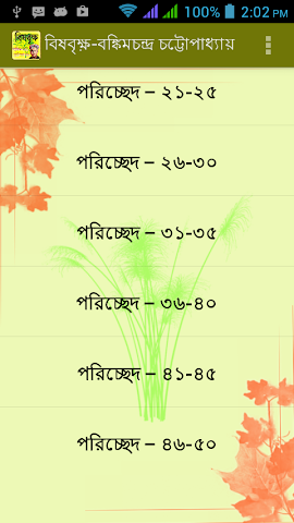 android বিষবৃক্ষ | brishbrikkho Screenshot 1