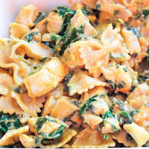 Spinach Artichoke Pasta with Chicken