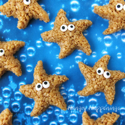 Caramel Rice Krispie Treats (starfish and turtles)