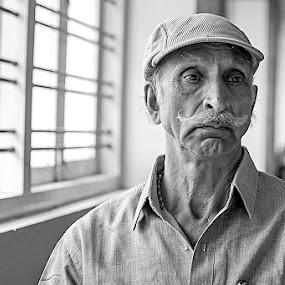 Ex-Service man by Bharathkumar Hegde - People Portraits of Men ( ex, service, india, men, man )