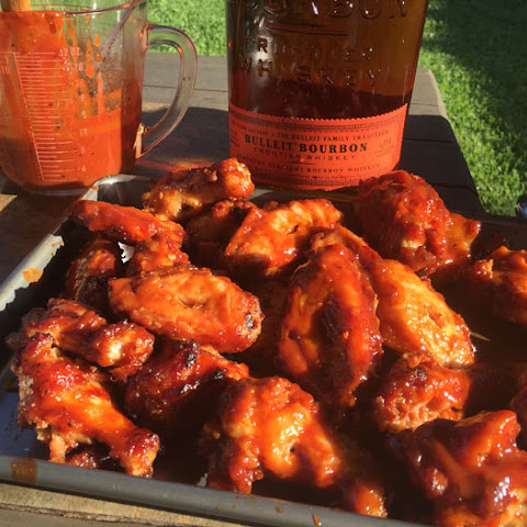 Bourbon Bacon Chicken Wings