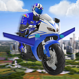 Futuristic Flying Moto Racing