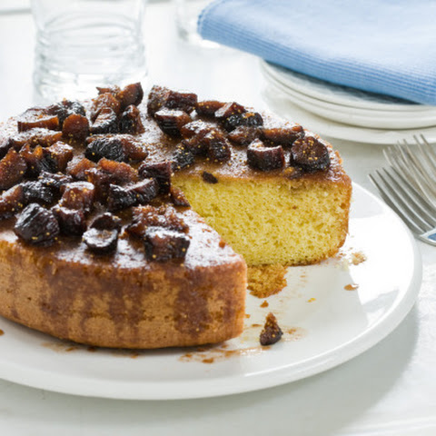 Olive-Oil Orange Cake with Poached Figs