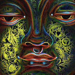 Light Face by Joseph Basukarno - Abstract Fine Art