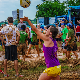 I got this! by Myra Brizendine Wilson - Sports & Fitness Other Sports ( teams, mud, volleyball, sports, mud volleyball, people )