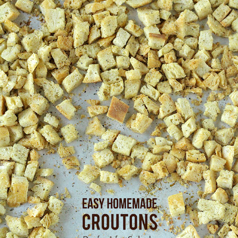 Homemade Croutons (Perfect for Salads, Soups & Stuffing)