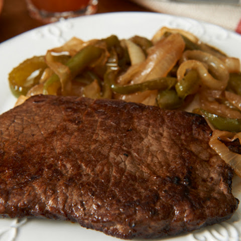 Skillet Steak with Peppers & Onions
