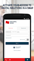 Screenshot of National Bank Application