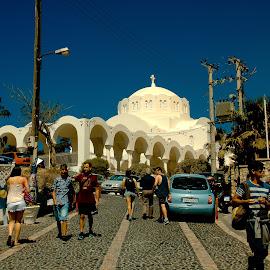 Santorini, Greece, august 2014 by Vladimir Firsov - City,  Street & Park  Street Scenes ( isle, greece, sea, summer, santorini )