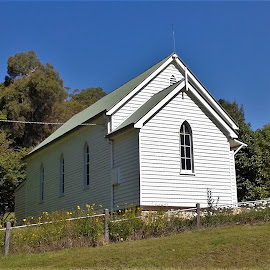 Harrietville Church by Sarah Harding - Novices Only Street & Candid ( building, church, novices only, architecture, historic )